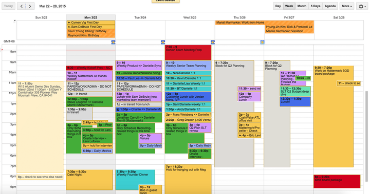 Calendar before Timeboxing